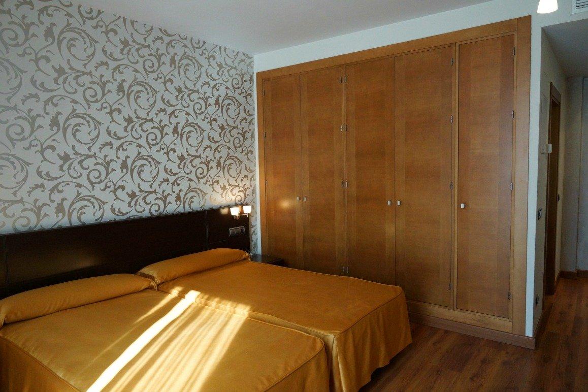 Habitación doble interior uso individual