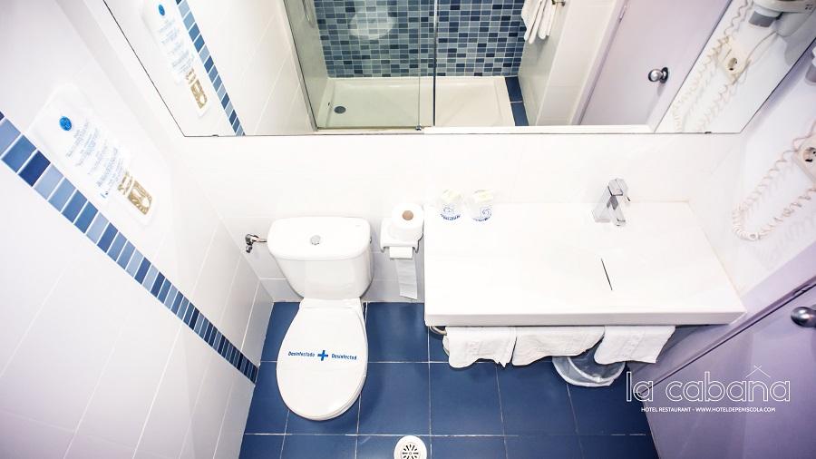 Baño - Hotel la Cabaña-