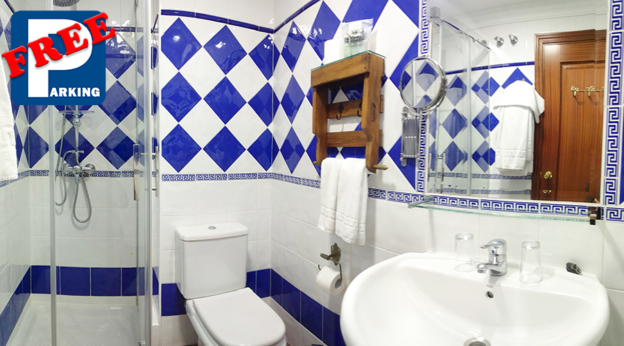 baño doble basica_Hotel San Francisco Ronda