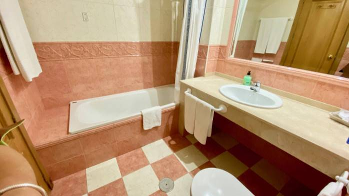 HOTEL TORREPALMA, Baño habitación 101