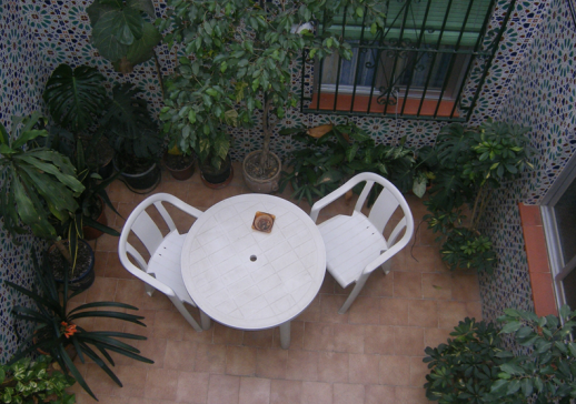 Patio Hostal La Ermita Nerja